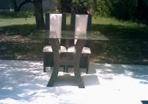 Mesa para novios de cristal con base de madera $550